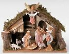 75 Inch Scale Fontanini 8 Pc Figurine And Italian Stable Scene 54829