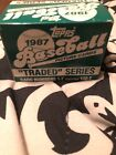 1987 Topps Traded Baseball Picture Card Set #1T-132T