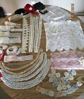 Vintage Sewing Trims, Crochet, Lace Netting, Lace, Eyelet,  for Sewing, Crafts