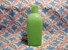 Jadeite Green Glass Square Bottle Vase in Excellent Condition