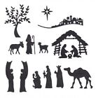 Nativity Metal Cutting Dies Stencil for DIY Scrapbooking Christmas Card Making