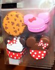 Minnie Mouse Sweet Treats Cupcake Magnets Set of 4 Disney World Theme Parks NEW