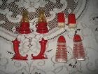 Vintage lot of red salt and pepper shakers One set is not shakers See pictures