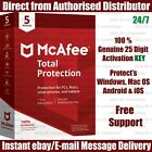 McAfee Total Protection  2018 : 5 Devices - 1 Year KEY Instant Email Delivery