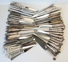 Lot of 100 Silverplate Hollow Handle Dinner Knives/Knife Lot Flatware No Mono
