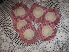 Set of 6 Handmade Primitive Fall Country Fabric Flower Ornies Bowl Fillers