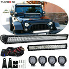 52inch +22 +4 18W LED Offroad Light Bar Combo Kit For Jeep Wrangler JK Rubicon