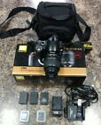 Nikon D60 DSLR Camera with Kit 18 55 VR Lens Batteries Chargers and Case