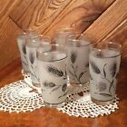 Set Of 6 Libbey Frosted Wheat Juice Glasses