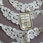 Vintage SWISS Embroidered Trim 64 Appliques FLOWERS Scalloped 11 Yds * w Tag