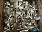Mixed Lot 34 pounds 100's of Silverplate Spoons Forks Craft Wind Chimes Jewelry