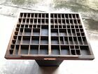 Letterpress Antique Printers Wood Type Case Drawer Tray Shadowbox #1