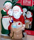 1991 NEW HALLMARK Ornament MR & MRS CLAUS Checking His List QX4339 6th in series