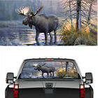 Pickup Rear Window Moose Forest Decoration Sticker Decal Waterproof 22 x 65