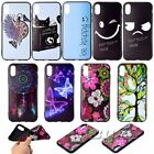 For iPhone XS Max/XR silicone Relief dreamcatcher embossed protective skin Black