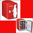 MINI FRIDGE 6-Can Portable Compact Student Dorm Fridge Motor Home Bear Red NEW