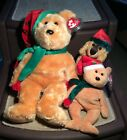 TY BEANIE BABY and BUDDY 2003 HOLIDAY BEARS With JINGLEPUP BABY. Total of 3