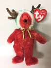 TY Jingle Beanie Baby - 2002 HOLIDAY TEDDY (Red Version) (5.5 inch) NWT