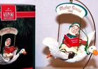 1992 NEW Hallmark Christmas Ornament MOTHER GOOSE White Bird Wings Move QX4984