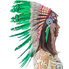 CLEARANCE PRICE Native American Indian Style Feather Headdress Green Duck