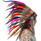 CLEARANCE PRICE Native American Indian Style Feather Headdress Rainbow Rooster