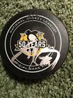 Sidney Crosby Signed Autographed Pittsburgh Penguins 50th Anniversary Logo Puck