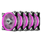 5PCS Pink Halo LED 120mm PC CPU Computer Case Cooling Neon Clear Fan Mod