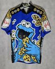 Pearl Izumi Vintage  Rare Cookie Monster Sesame Street Cycling Jersey Racing