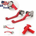 USA For HONDA CRF150F CRF230F 03-17 Dirtbike Brake Clutch Levers w/Handle Grips