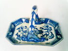 Chinese basket cobalt blue and white ceramic