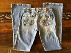 BKE Vintage Jeans Style BKL2642L Distressed Boot Cut Womens Jeans Size 27x30