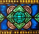GOTHIC FIRED STAINED GLASS WINDOW, NYC AREA CHURCH