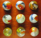 9- OUTSTANDING VINTAGE VITRO AGATE MARBLES MINT #394