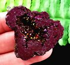 36X37X12mm purple Geode Agate Display Decoration freeform pandant bead E556