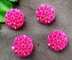 5pcs 15x15x9mm rose tridanca carved flower pandant bead E558