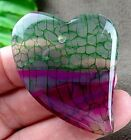 47x34x5mm green rose fire agate heart pendat bead E462