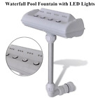 Cascade Waterfall Swimming Pool Fountain w LED Lights Above and In ground Pool
