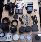 Nikon D3200 DSLR Camera with 5 LensesChargerBackpack 2 Batterys Plus Extras