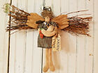 Handmade Country Primitive Hanging Garden Tyme Angel with Twig Wings