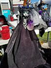 HALLOWEEN MOSTER HIGH BEAUTIFUL HANDCRATFED WITCHES DOLL 16'' HIGH W/STAND
