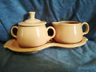 Fiestaware Apricot Cream and Sugar 4 pc Set Retired Fiesta Coffee Tea Set