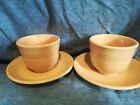 8 FIESTA FIESTAWARE Apricot Peach COFFEE MUGS CUP & saucers Retired ship free