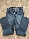 Vintage Levis authentic 501 90s button fly red tab womens denim jeans 27 29 32
