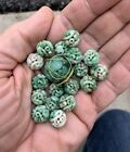 Antique Carved Jadeite Bead Necklace