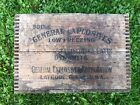 RARE Vintage Antique GENERAL EXPLOSIVES Dynamite TNT Wood Crate Box LATROBE PA