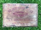 RARE Vintage Antique VOLUNTEER EXPLOSIVES Dynamite TNT Wood Crate Box