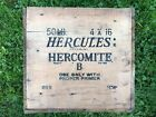Vintage Antique HERCULES POWDER Hercomite Explosives Dynamite TNT Wood Crate Box