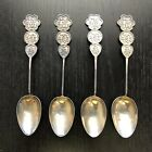 19/20th C Chinese Sterling Silver Export Spoons SET OF 4 Lucky Scholar Art 65.6g