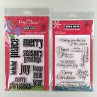 Hero Arts Lot Of 2 Merry Christmas Messages Lower Case Greeting Clear Stamp Sets