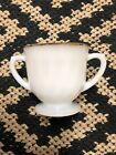 Fire King  Dinnerware  Open Sugar Bowl White Milk Glass With Gold Rim - Vintage